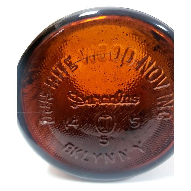 Mid-Century Modern 1950s Dun-Rite Walnut Pipe Rack W/ Humidor Tobacco Jar For Sale - Image 3 of 6