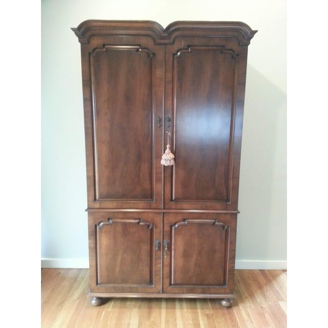Smith and Watson Yew Wood Custom Made Armoire For Sale In New York - Image 6 of 6