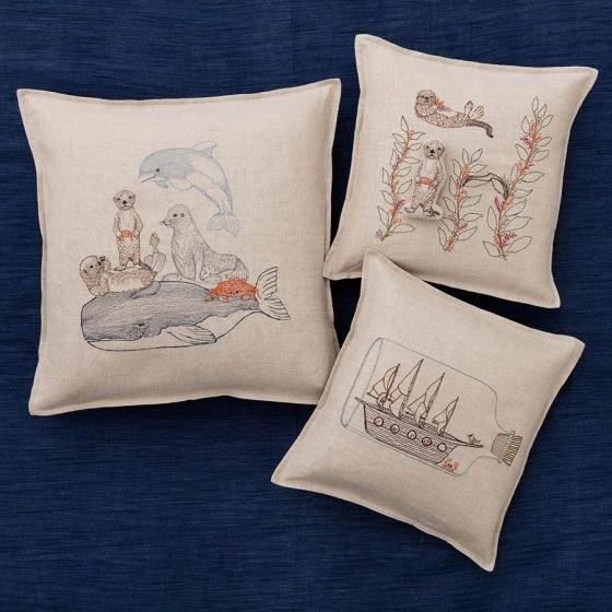 Sea Otter Pocket Pillow For Sale - Image 5 of 6