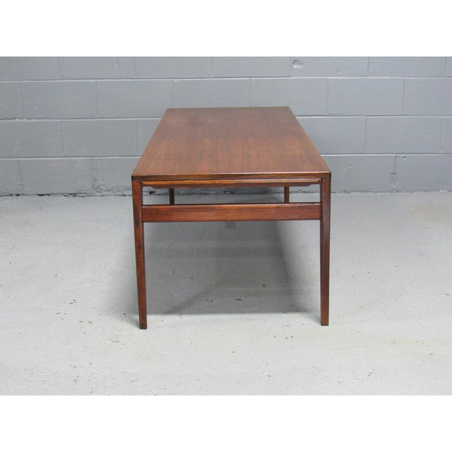 Haslev Severin Hansen for Haslev Mid-Century Danish Rosewood Extending Coffee Table For Sale - Image 4 of 7