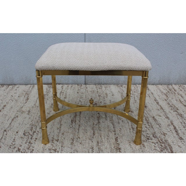Mid 20th Century 1970s Modern Italian Brass Ottomans For Sale - Image 5 of 11