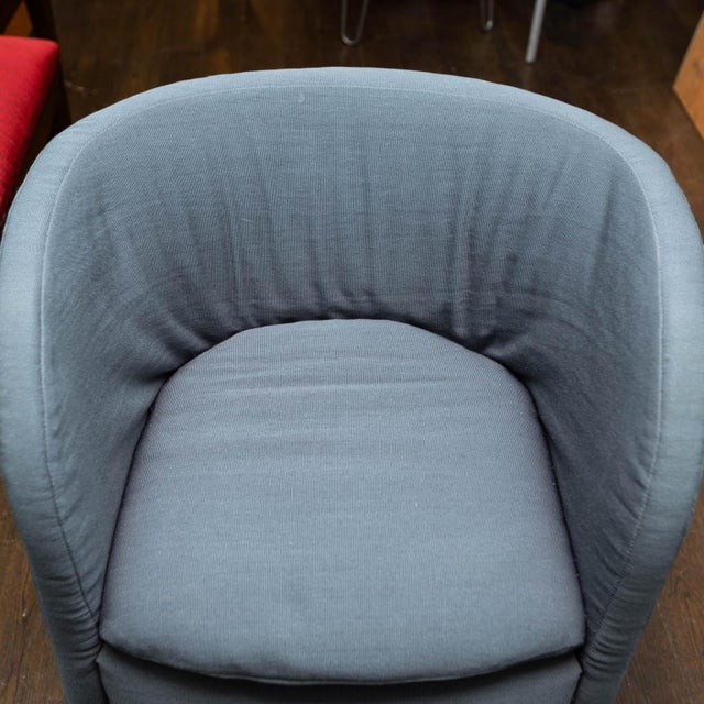 Textile Set of 4 John Saladino for Dunbar Chairs For Sale - Image 7 of 10