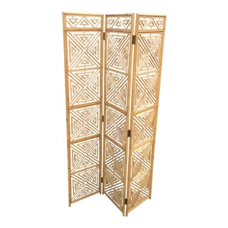 1970s Chippendale Bamboo Room Divider