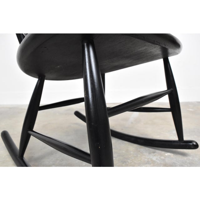 Mid-Century Rocking Chair by Illum Wikkelso For Sale - Image 10 of 13