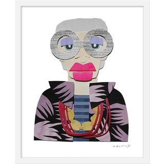 """Medium """"Iris With Stripes and Palms Jacket"""" Print by Melvin G. , 19"""" X 25"""" For Sale"""
