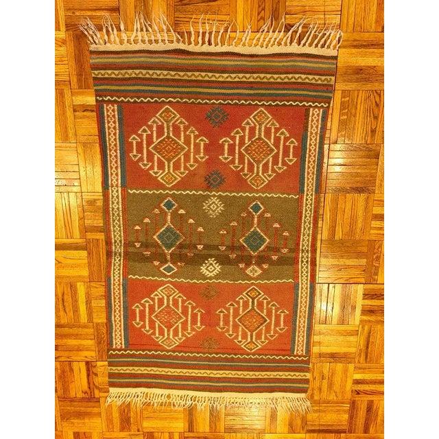 Turkish Antique Kilim Rug - 2′8″ × 4′7″ - Image 2 of 5