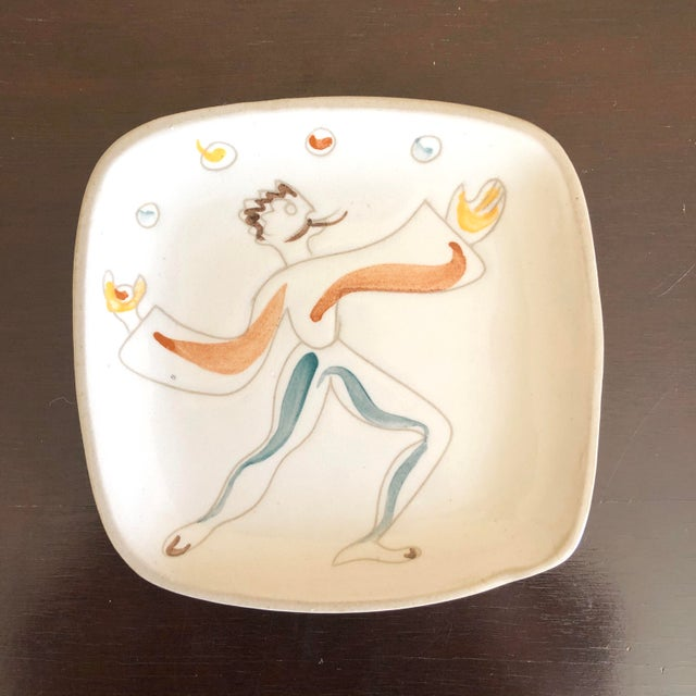 Mid 20th Century Mid Century Glidden Pottery Circus Plates - Set of 6 For Sale - Image 5 of 9