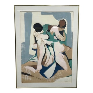 1960s Paolo Frosecchi Lithograph- Two Nudes For Sale