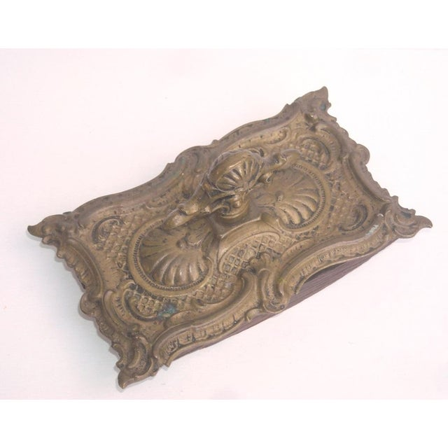 Antique French Ornate Brass Ink Blotter - Image 5 of 6