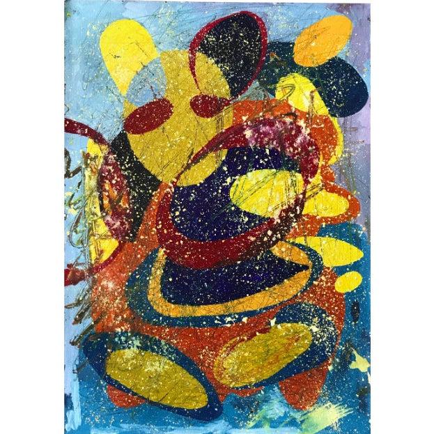 Jennifer Mack Abstract Splatter Painting For Sale