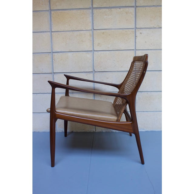 Kofod Larsen Cane Back Lounge Chair For Sale - Image 7 of 11