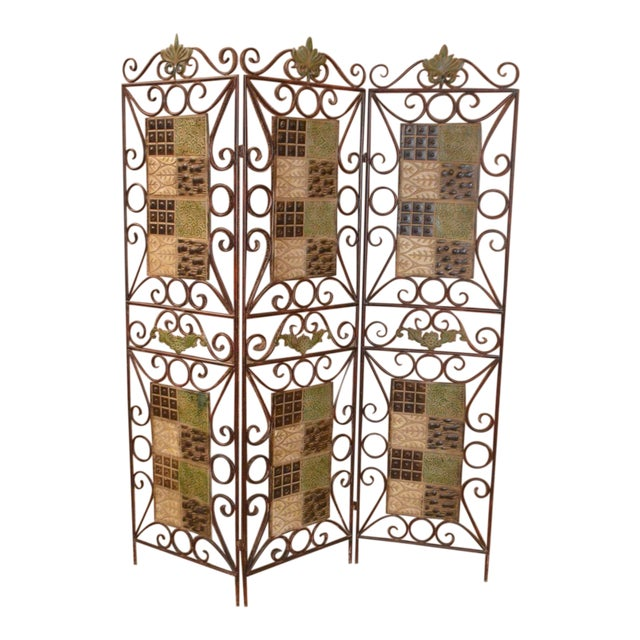 1980s Vintage 3-Panel Folding Screen For Sale