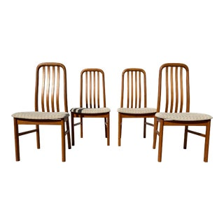 1950s Danish Modern Teak Dining Chairs - Set of 4 For Sale