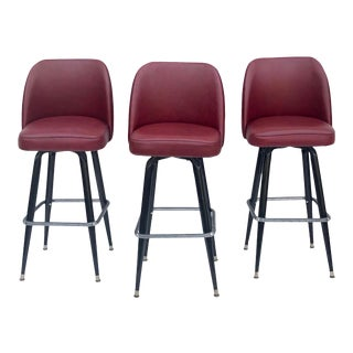 Mid-Century Modern Swivel Bar Stool For Sale