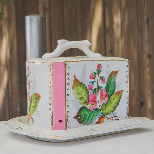 Antique Porcelain Covered Cheese Keep For Sale - Image 12 of 12