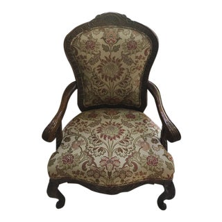 Modern Custom Upholstered Bergere Side Chair For Sale