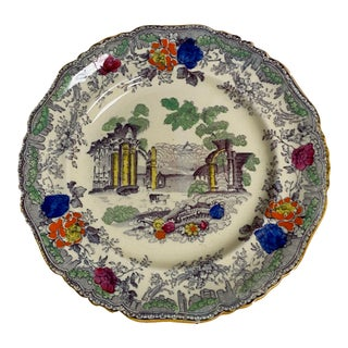 Antique Masons Ironstone Plate For Sale