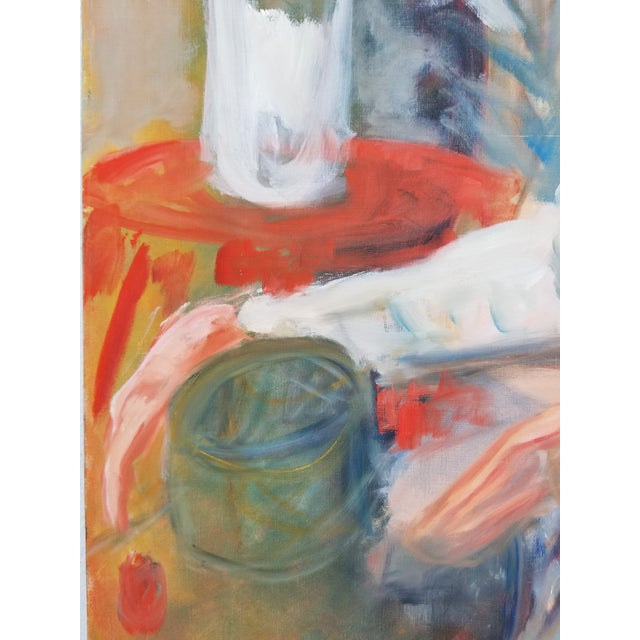 Canvas 1972 Alice Brock Abstract Still Life Painting For Sale - Image 7 of 12