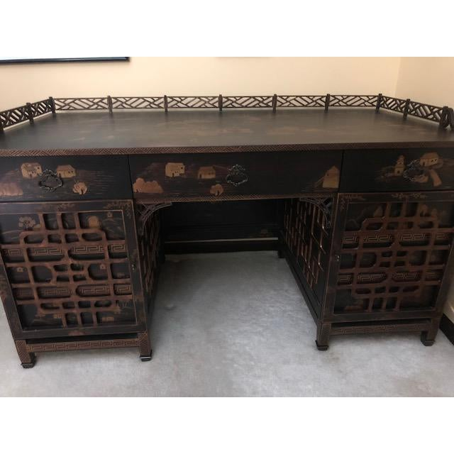 Late 20th Century Vintage Drexel Heritage Mandalay Desk For Sale In New York - Image 6 of 8