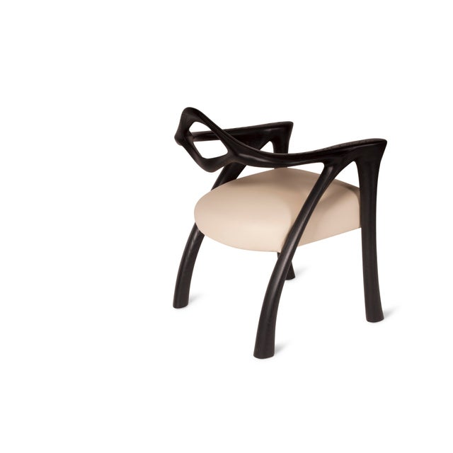 Amorph Darcey Dining Chair, Ebony Stained Ash wood stained ebony Available in different finishes. Leather Off White