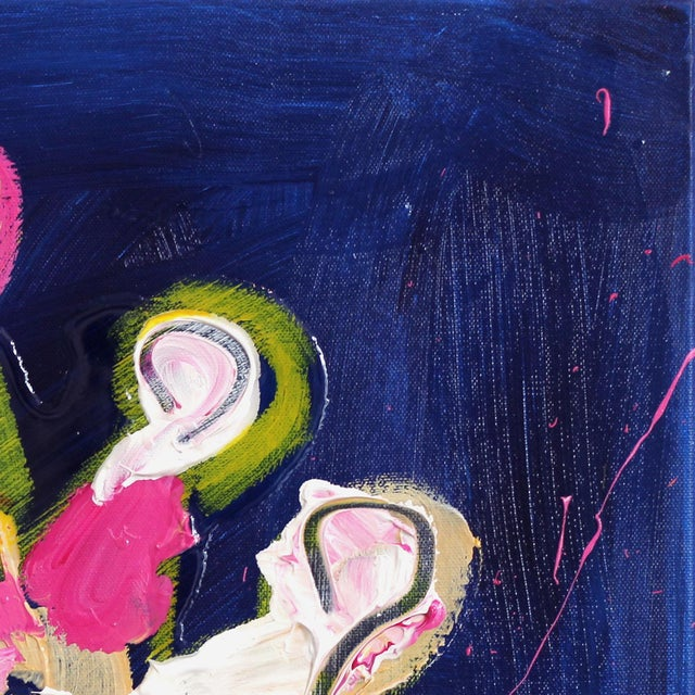 """Abstract """"Magenta & Yellow"""" Original Painting by Ash Almonte For Sale - Image 3 of 8"""