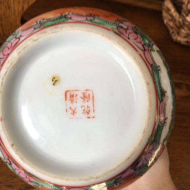 Pink Petite Rose Medallion Ginger Jar For Sale - Image 8 of 13