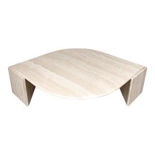 Art Deco 1970's Travertine Coffee Table For Sale