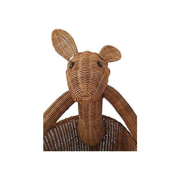 Vintage Rattan Kangaroo Basket - Image 6 of 8