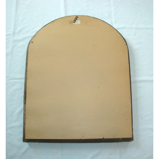 """31"""" Arch Top Mirror Gold Rattan Wicker For Sale In Richmond - Image 6 of 7"""