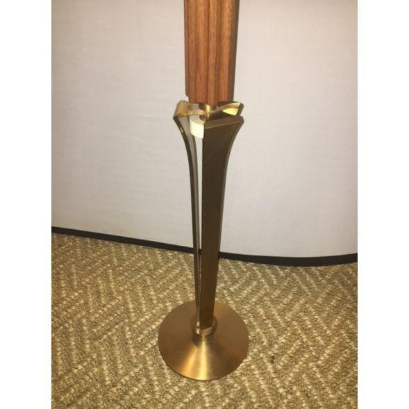 Teak and Brass Standing Prickets - Pair - Image 6 of 6