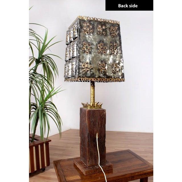Mid-Century Brutalist Table Lamp - Image 5 of 6