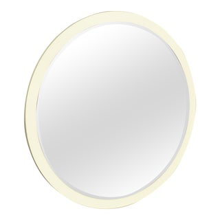 Vintage Mid-Century Italian Cream Wall Mirror For Sale