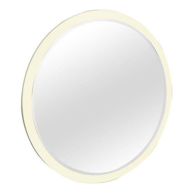 Vintage Mid-Century Italian Cream Wall Mirror - Image 1 of 5