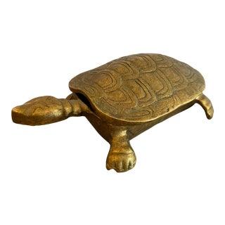 Vintage Brass Turtle Box For Sale