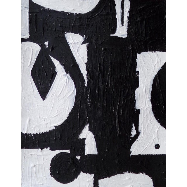 Abstract Expressionism Original Abstract Contemporary Black and White Painting For Sale - Image 3 of 3