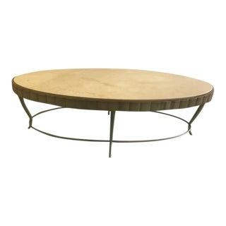 Barbara Barry Oval Marble Top Coffee Table