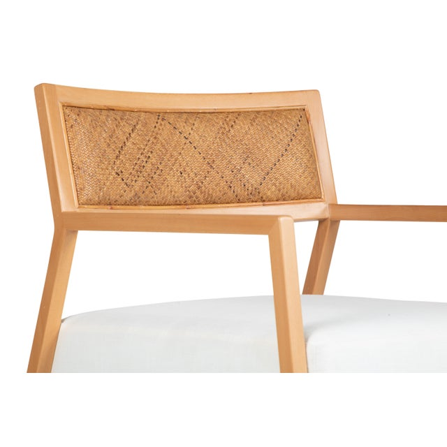 Wood David Francis Furniture Metro Lounge Chair, Natural For Sale - Image 7 of 8