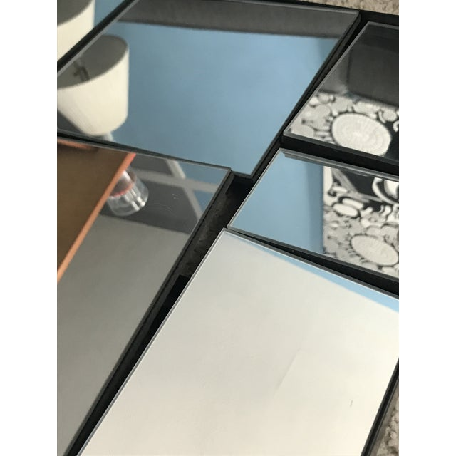 2010s Cb2 Neal Small Slopes Style Mirror For Sale - Image 5 of 10
