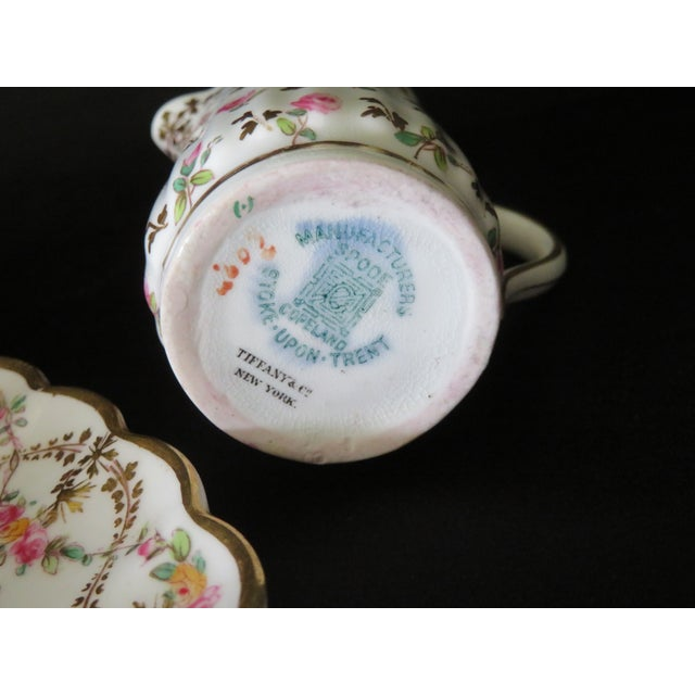 Asian Vintage Antique Spode Copeland Stoke-Upon-Trent England Tiffany and Co. Company Tea Set For Sale - Image 3 of 7