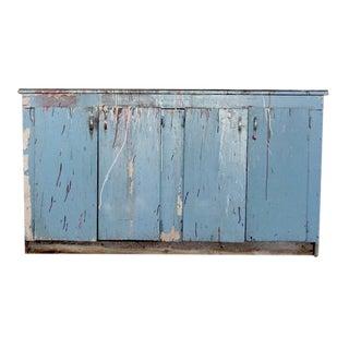 Vintage Painted Wood Work Cabinet