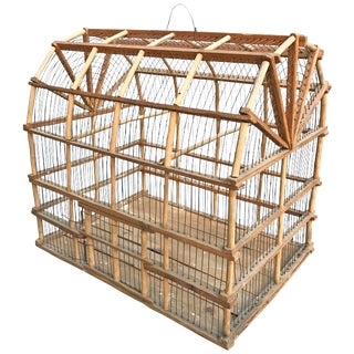 Early 20th Century Dutch Colonial Barn Birdcage For Sale