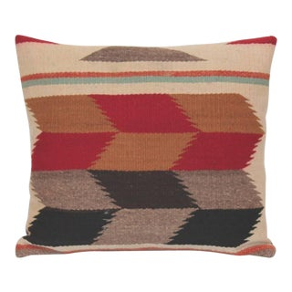 Pair of Tumbling Blocks Navajo Indian Weaving Pillows For Sale
