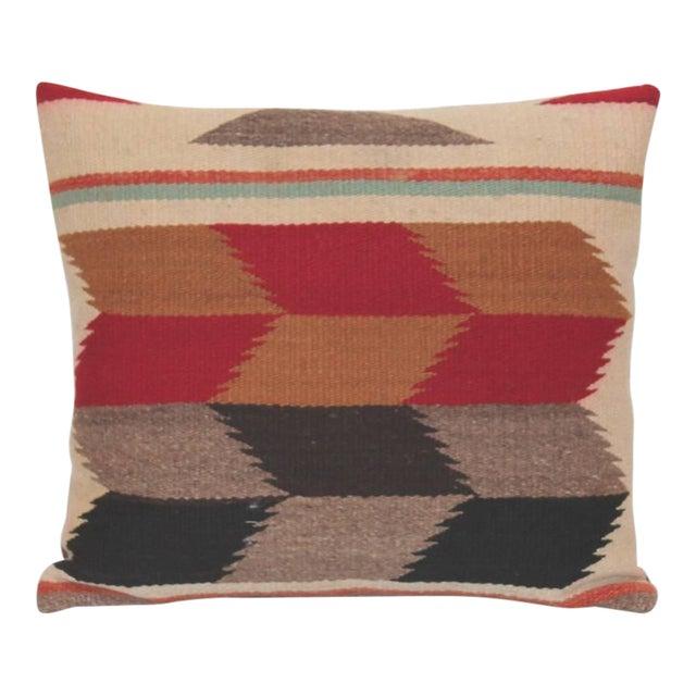 Pair of Tumbling Blocks Navajo Indian Weaving Pillows For Sale