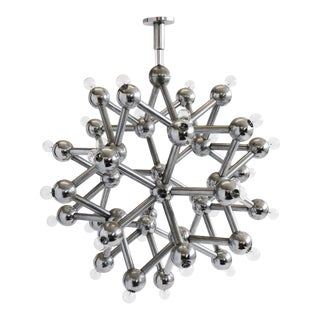 Molecular Chrome Chandelier by Kalmar For Sale