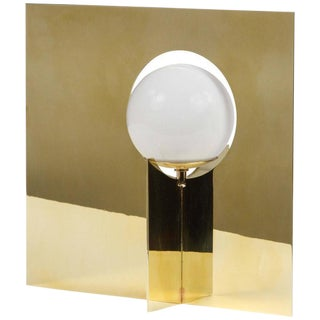 Paul Marra Brass Intersection Table Lamp For Sale