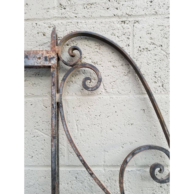 Victorian Architectural Iron Panels - a Pair For Sale - Image 3 of 10