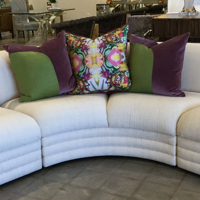 1980s Vintage 3 Piece Sectional For Sale - Image 5 of 9