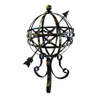 Vintage Metal Armillary Sphere For Sale