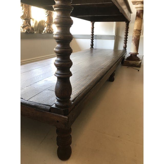 Large Oak Refectory Table For Sale - Image 5 of 8