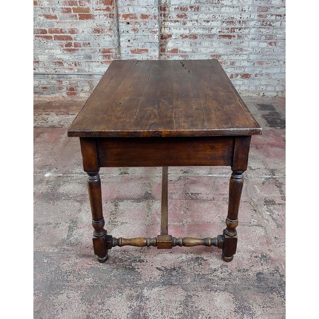 Spanish Revival Two Drawer Writing / Dining Table For Sale - Image 4 of 10
